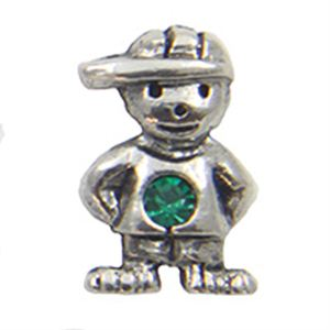 Picture of May Boy Birthstone Charm